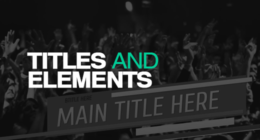 Titles and Elements
