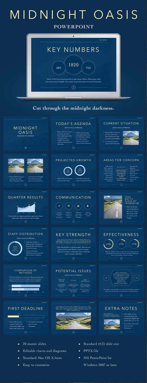 Midnight Oasis PowerPoint Template (PowerPoint Templates)