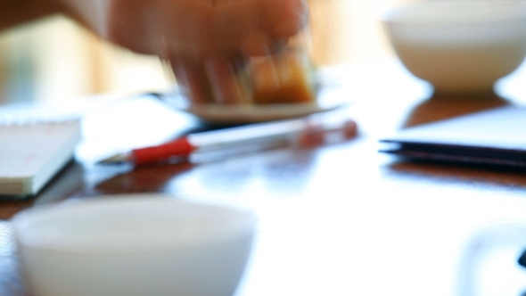 VideoHive People Rolling Dice At Cafe 12186060