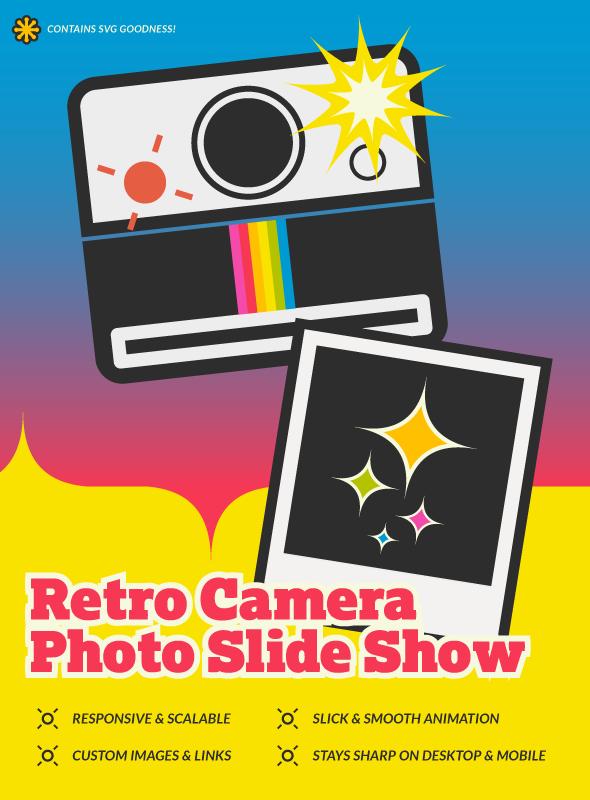Retro SVG Camera Photo Slide Show - 1