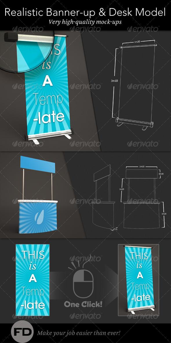 GraphicRiver Banner Up & Desk Mock-up 1220709
