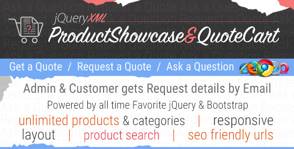 JQuery XML Product Showcase & Quote Cart