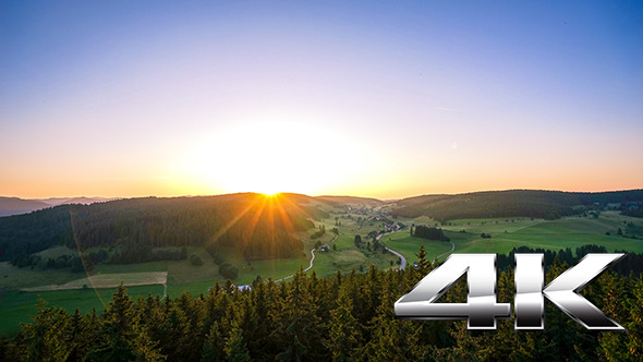 VideoHive Sunset over the Black Forrest 12186820