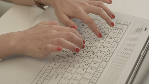 VideoHive Woman Hands On The Keyboard 12186855