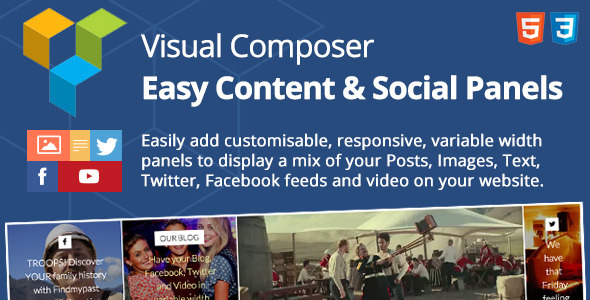 CodeCanyon Easy Content & Social Panels for Visual Composer 12163778
