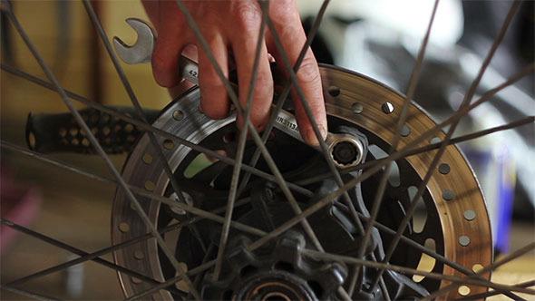 VideoHive Repair Motorcycle Wheel 12188344