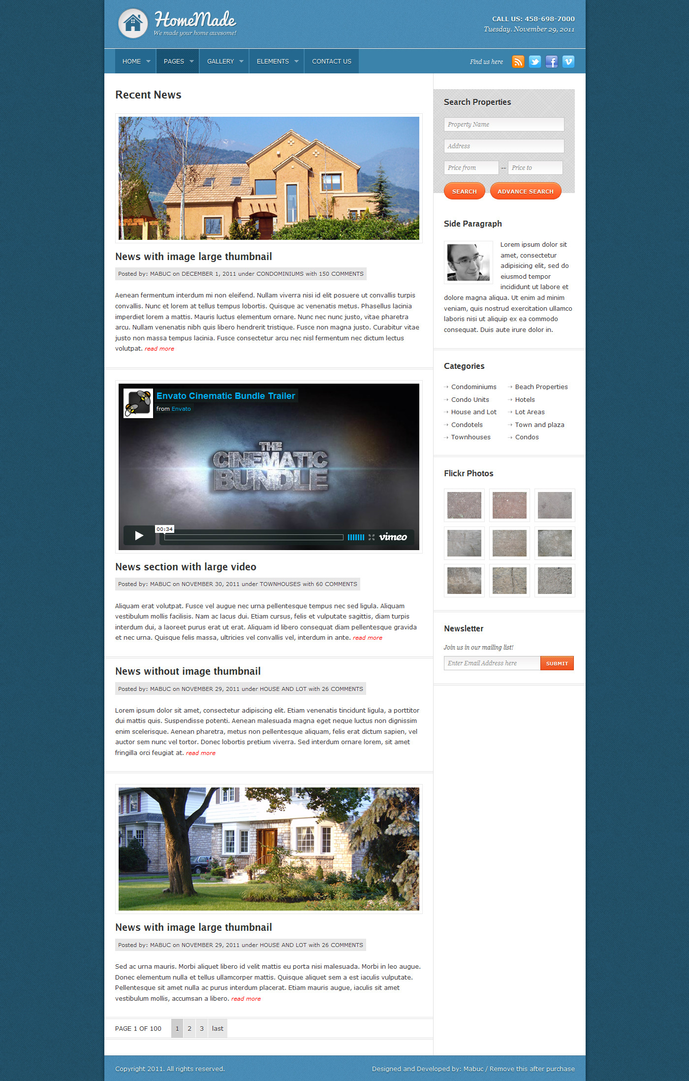Home Made: Real Estate Theme