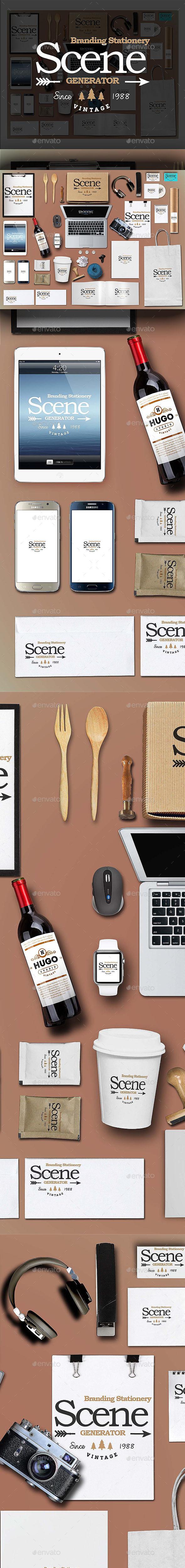 Branding Stationery Scene Generator (Stationery)