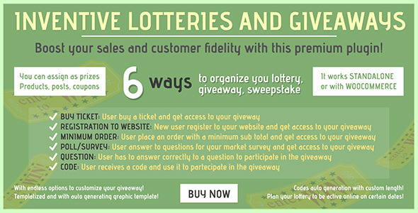 Inventive lotteries and giveaways