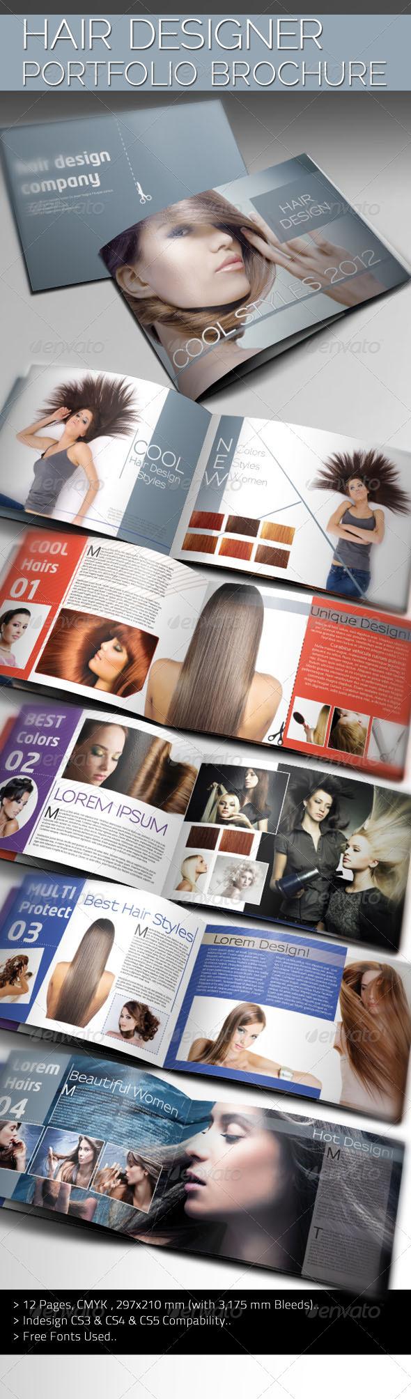 GraphicRiver Hair Designer Portfolio 1216237