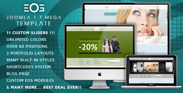 ThemeForest EOS JomSocial Ready Template for Joomla 1192184