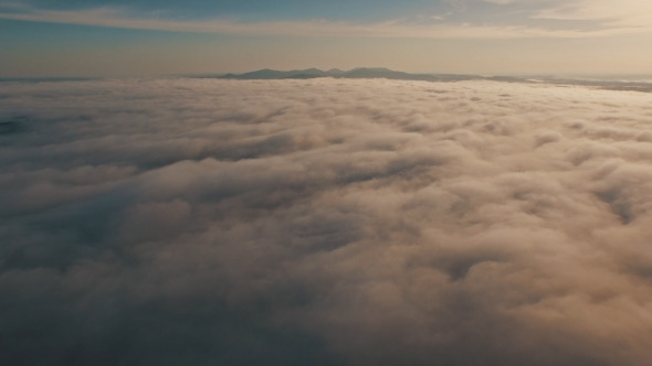 VideoHive Epic Aerial above Clouds and Fog 12189464