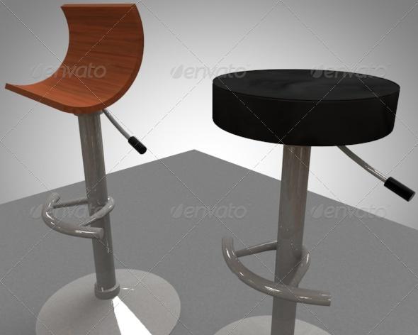 3DOcean 2 bar breakfast bar stools 148546