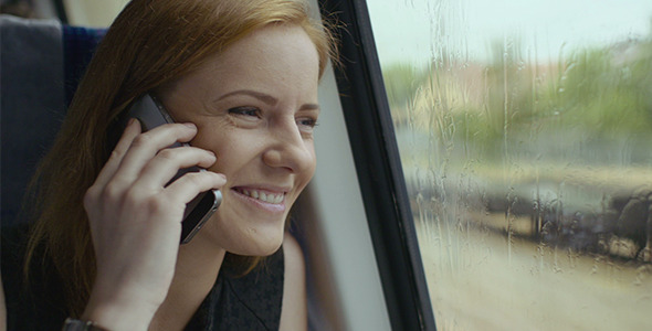 VideoHive Happy Girl On Phone 12190466