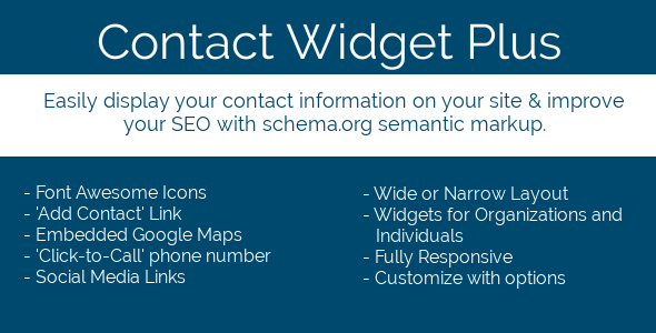 Contact Widget Plus for WordPress
