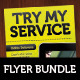 Try My Service, A5 Flyer Set - GraphicRiver Item for Sale
