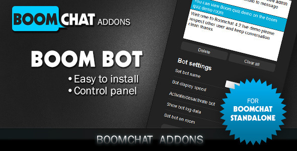 Boombot addon for Boomchat PHP/AJAX chat