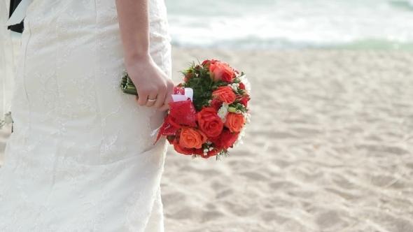 VideoHive Newlyweds On A Beach 12191728