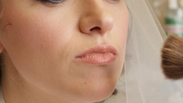 VideoHive Girl Doing Bridal Makeup 12200539