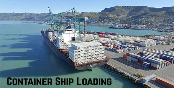 VideoHive Container Ship Loading 12201747