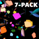 Rainbow Confetti - Pack of 7