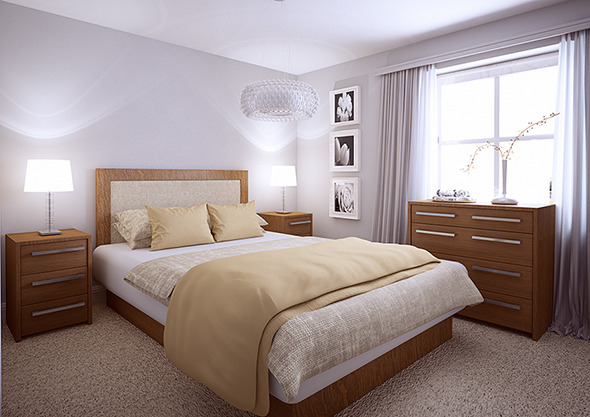 Bedroom interior for C4D & VRay - 3DOcean Item for Sale