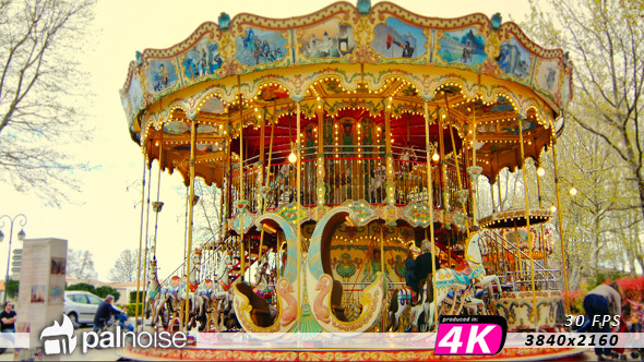 VideoHive Merry Go Round Park Attraction 12202991