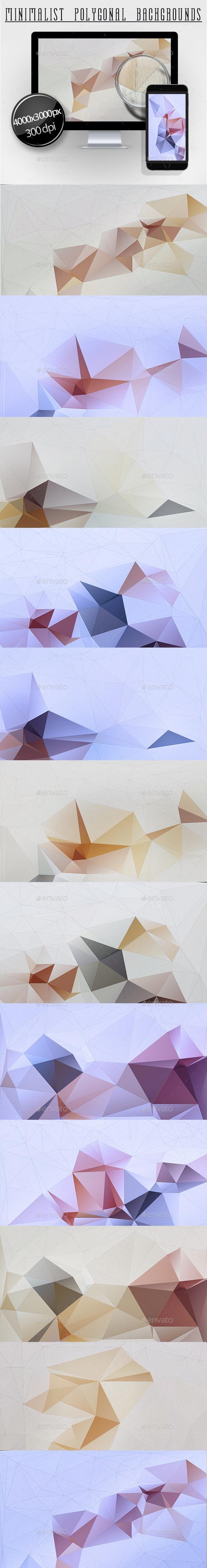 Minimalist Polygonal Backgrounds