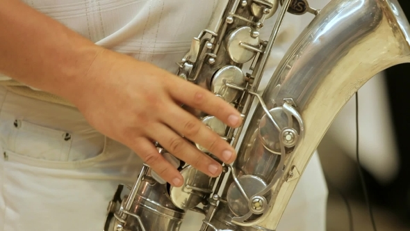 VideoHive Saxophonist And His Instrument 12207029