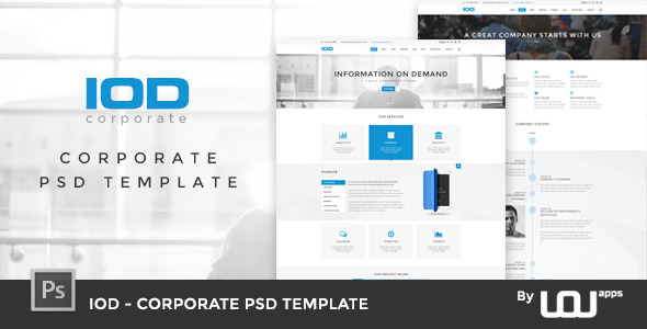 Powerpoint presentations website templates from themeforest iod corporate psd template toneelgroepblik Image collections