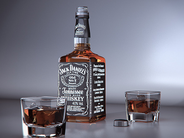 3DOcean Jack Daniels product visual Vray for Cinema 4D 12207642