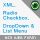 AS3 Web Form Class xml radio buttons checkbox - ActiveDen Item for Sale
