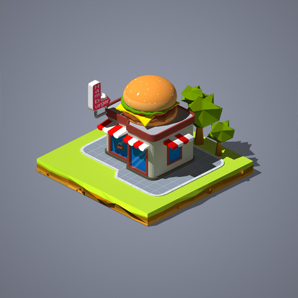 3DOcean Hamburger Shop 12209658