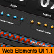 Ultimate Web Elements pack 1.1 Dark Edition - GraphicRiver Item for Sale