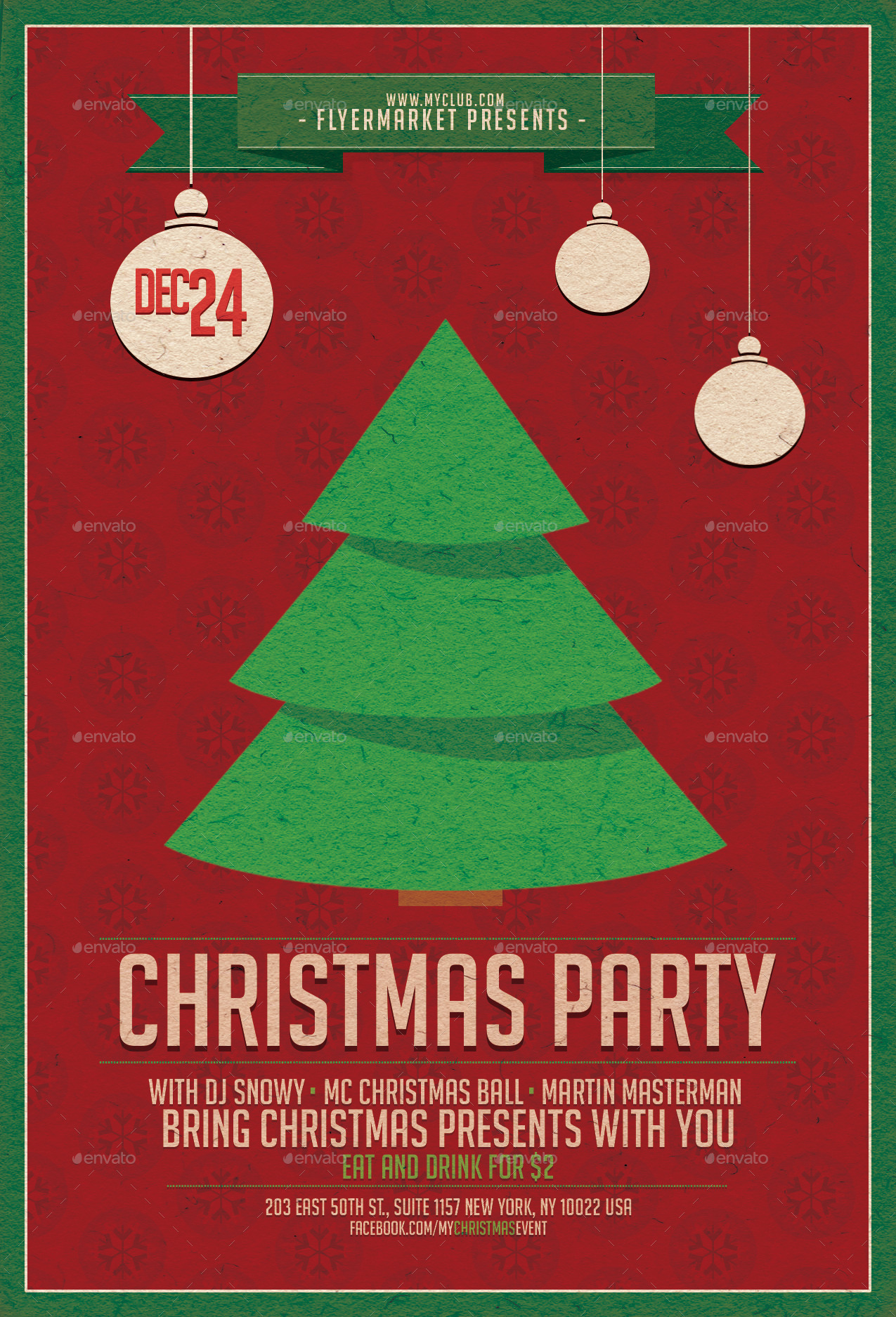 christmas party flyer template by flyermarket graphicriver christmas party flyer template holidays events christmas party v1 jpg