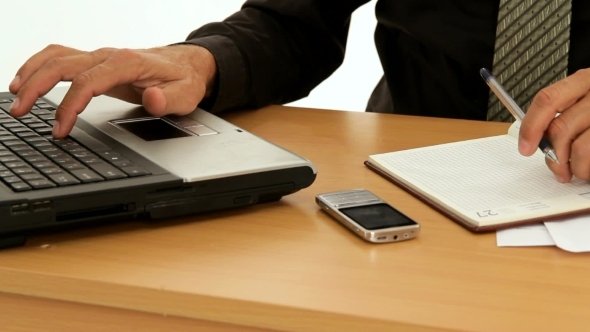 VideoHive Businessman Working On Laptop 12210228