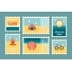 Summertime Stamp Set Flat