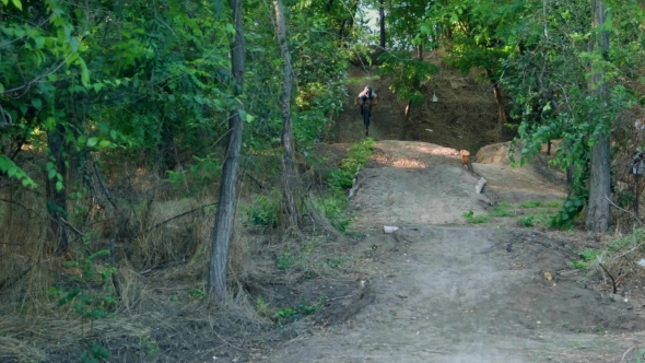 VideoHive Biker Go Downhill 12211412