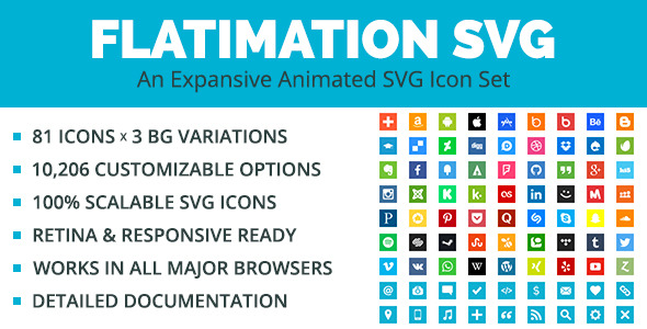 Download Flatimation SVG - An Animated SVG Icon Set nulled download