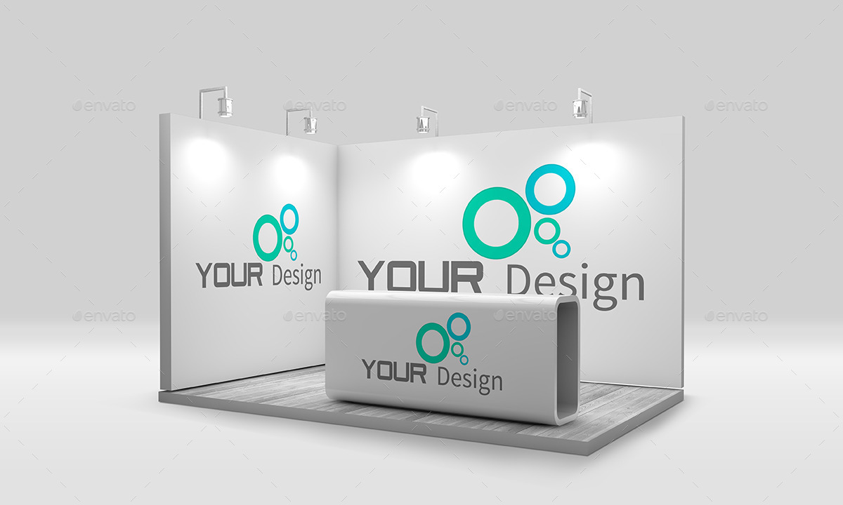 Exhibition Stall Mockup Psd : Trade show booth mockup by sbcreation graphicriver