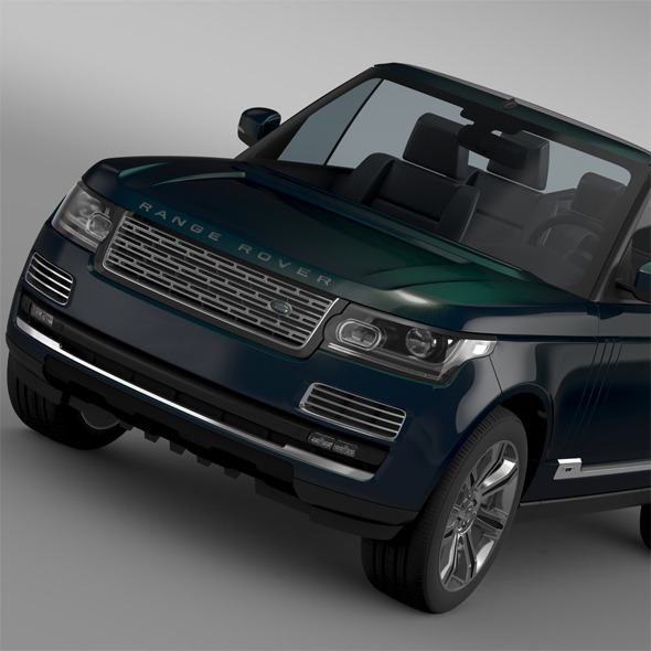 Range Rover Autobiography Black LWB Cabrio L405 2 - 3DOcean Item for Sale