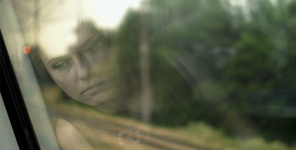 VideoHive Sad Girl Reflection On Window 12212608