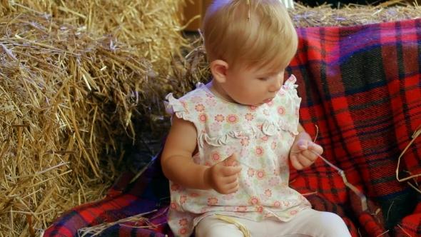 VideoHive Farm Kid In A Haystack 12212673