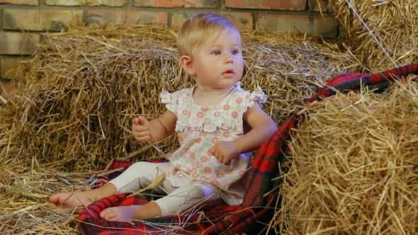 VideoHive Small Child In A Haystack 12212755