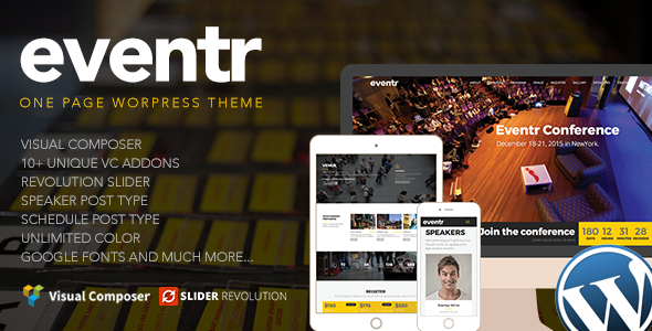 Download Eventr - One Page Event WordPress Theme nulled download