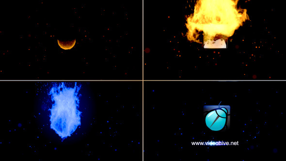 VideoHive Sphere Fire Logo Reveal V2 12213462