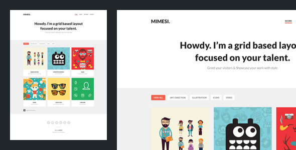 Mimesi - Creative Portfolio Theme for Tumblr