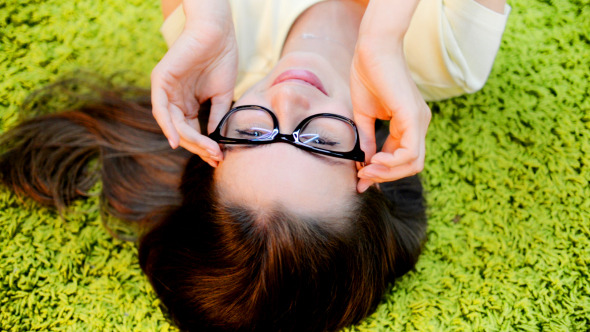 VideoHive Smiling Girl wearing Glasses 12213955