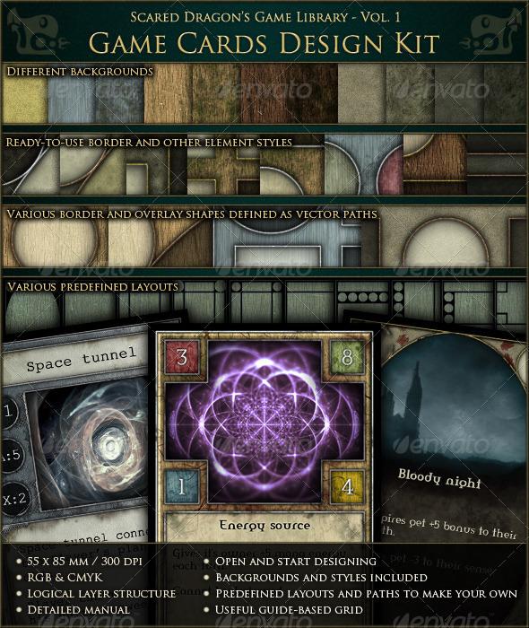 game cards design kit graphicriver. Black Bedroom Furniture Sets. Home Design Ideas