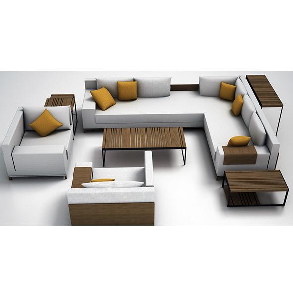 3DOcean Sofa set 12217936